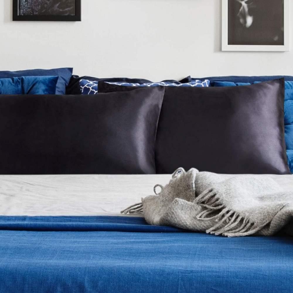 buy black satin pillow cases