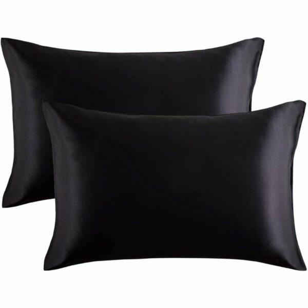 buy black satin pillowcase