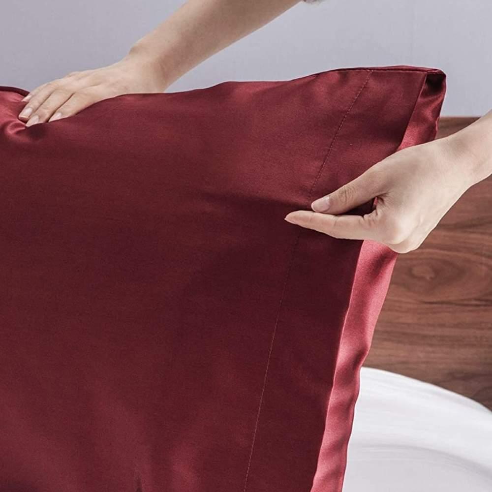 buy red sateen pillow slip