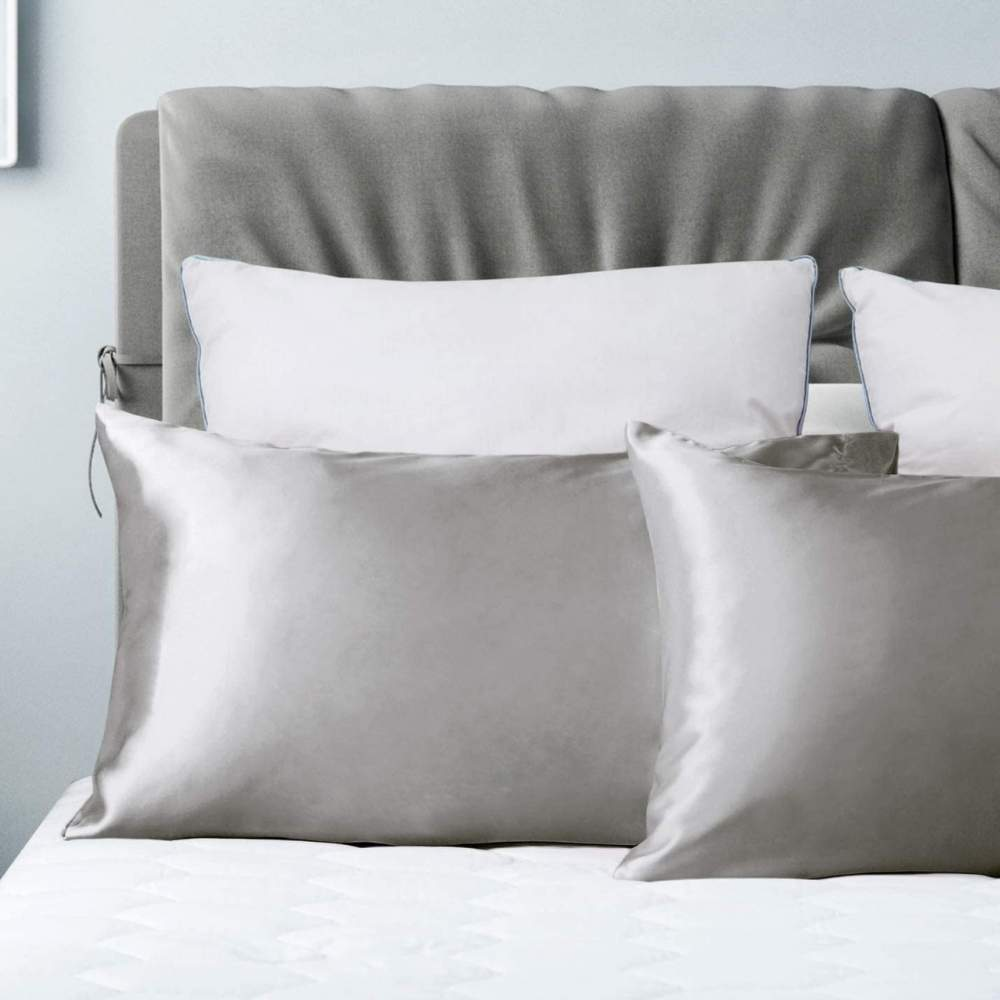 buy silver satin pillow cases
